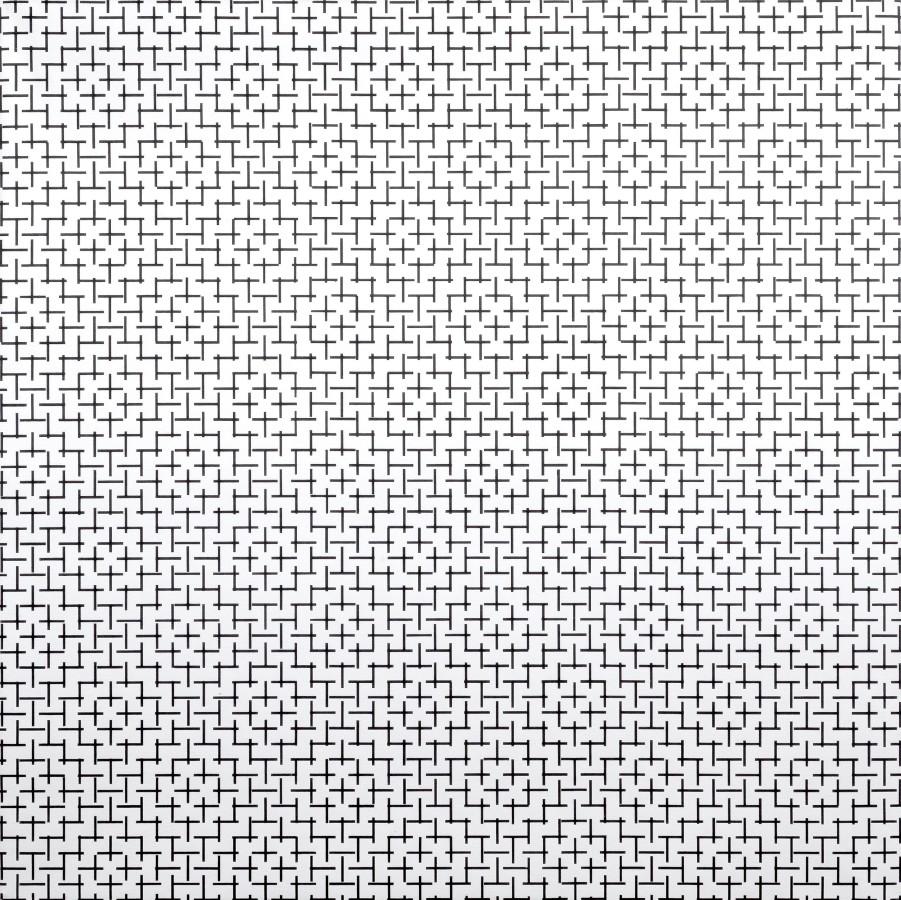 "<p><span class=""artist""><strong>FRANCOIS MORELLET</strong></span></p><p><span class=""title""><em>2 Trames de petits tirets 0º 90º</em>, 1973</span></p><div class=""medium"">Silkscreen on canvas</div><div class=""dimensions"">140 x 140 cm<br />55 ⅛ x 55 ⅛ inches</div>"