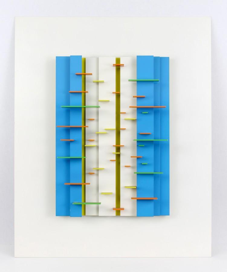 "<p><span class=""artist""><strong>CHARLES BIEDERMAN</strong></span>, <span class=""title""><em>#50 Red Wing</em>, 1953-82</span></p><div class=""medium"">Painted aluminium</div><div class=""dimensions"">86 x 70.5 x 11.5 cm<br />34 x 27 ¾ x 4 ½ inches</div>"