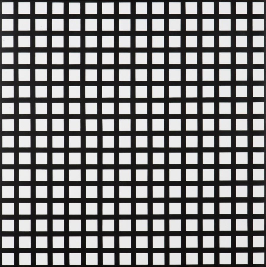 """<p><span class=""""artist""""><strong>FRANCOIS MORELLET</strong></span></p><p><span class=""""title""""><em>Trames de 256 carrés réguliers</em>, 1972</span></p><div class=""""medium"""">Silkscreen on acrylic on board</div><div class=""""dimensions"""">80 x 80 cm<br />31 1/2 x 31 1/2 inches</div>"""