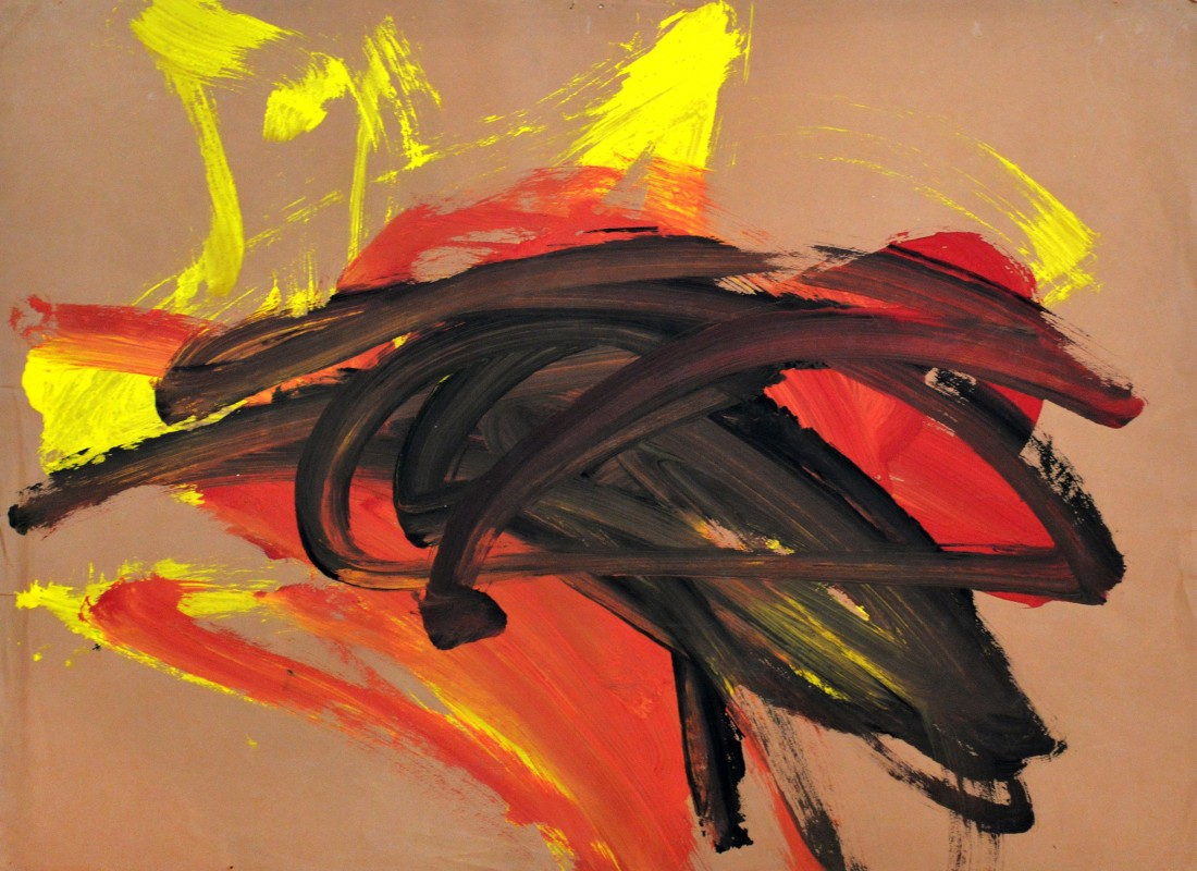"<p><span class=""artist""><strong>CONGO</strong></span>, <span class=""title""><em>41st Painting Session 19 August 1958</em><br /></span></p><p><span class=""title"">1958</span></p><div class=""medium"">Poster painton paper</div><div class=""dimensions"">39 x 53 cm<br />15 ⅜ x 20 ⅞ inches</div>"