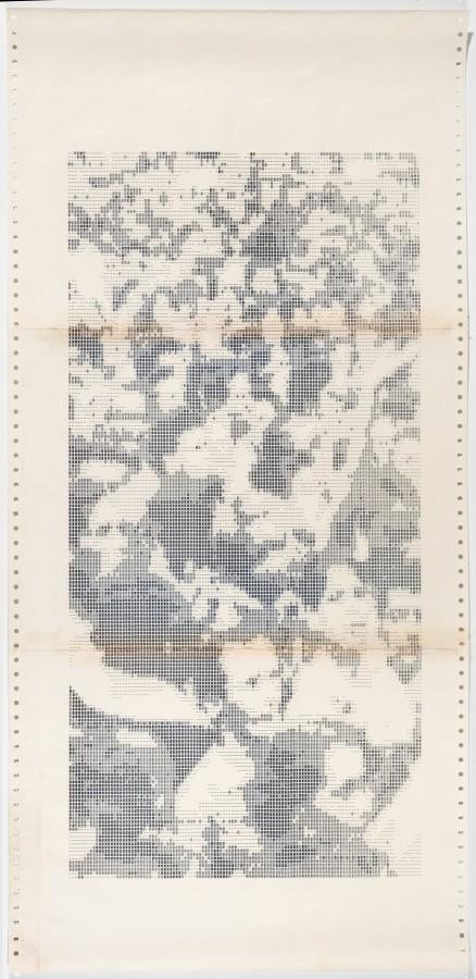 """<p><span class=""""artist""""><strong>WALDEMAR CORDEIRO</strong></span>, <em>Gente Grau 4</em><span class=""""title"""">, 1972</span></p>"""