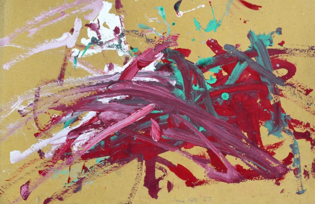 "<p><span class=""artist""><strong>CONGO</strong></span>, <span class=""title""><em>Untitled 1957</em><br /></span></p><p><span class=""title"">1957</span></p><div class=""medium"">Poster painton paper</div><div class=""dimensions"">32 x 52 cm<br />12 ⅝ x 20 ½ inches</div>"