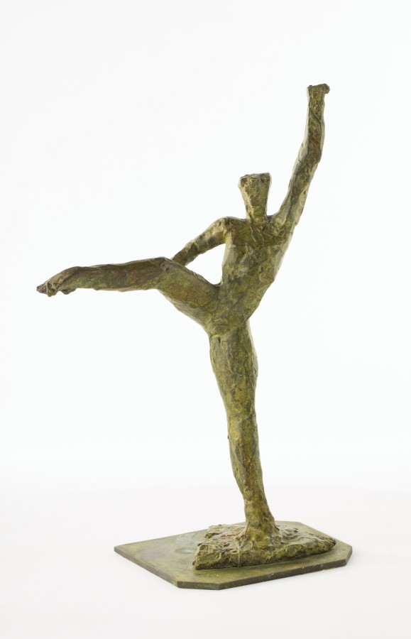 "<p><span class=""artist""><strong>IVOR ABRAHAMS</strong></span></p><div class=""title""><em>Dancer</em>, 1987</div><div class=""medium"">Bronze</div><div class=""dimensions"">46.5 x 30 x 17 cm<br />(18 1/4 x 11 x 3/4 x 6 3/4 in)</div><div class=""dimensions"">£5,000</div>"