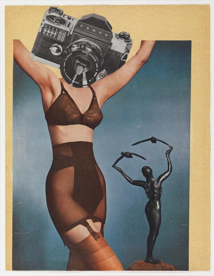 <p><strong>ERRÓ</strong></p><p><em>Canon Underwear</em>, 1958</p><p>Collage</p><p>32 x 25 cm</p><p>(12 5/8 x 9 9/8 in)</p><p>£3,000</p>
