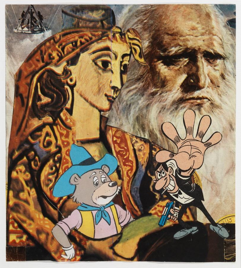 "<p><span class=""artist""><strong>ERRÓ</strong></span></p><div class=""title""><em>Leonardo</em>, 1981</div><div class=""medium"">Collage</div><div class=""dimensions"">18 x 16.5 cm<br />(7 1/8 x 6 1/2 in)</div><div class=""dimensions"">£2,500</div>"