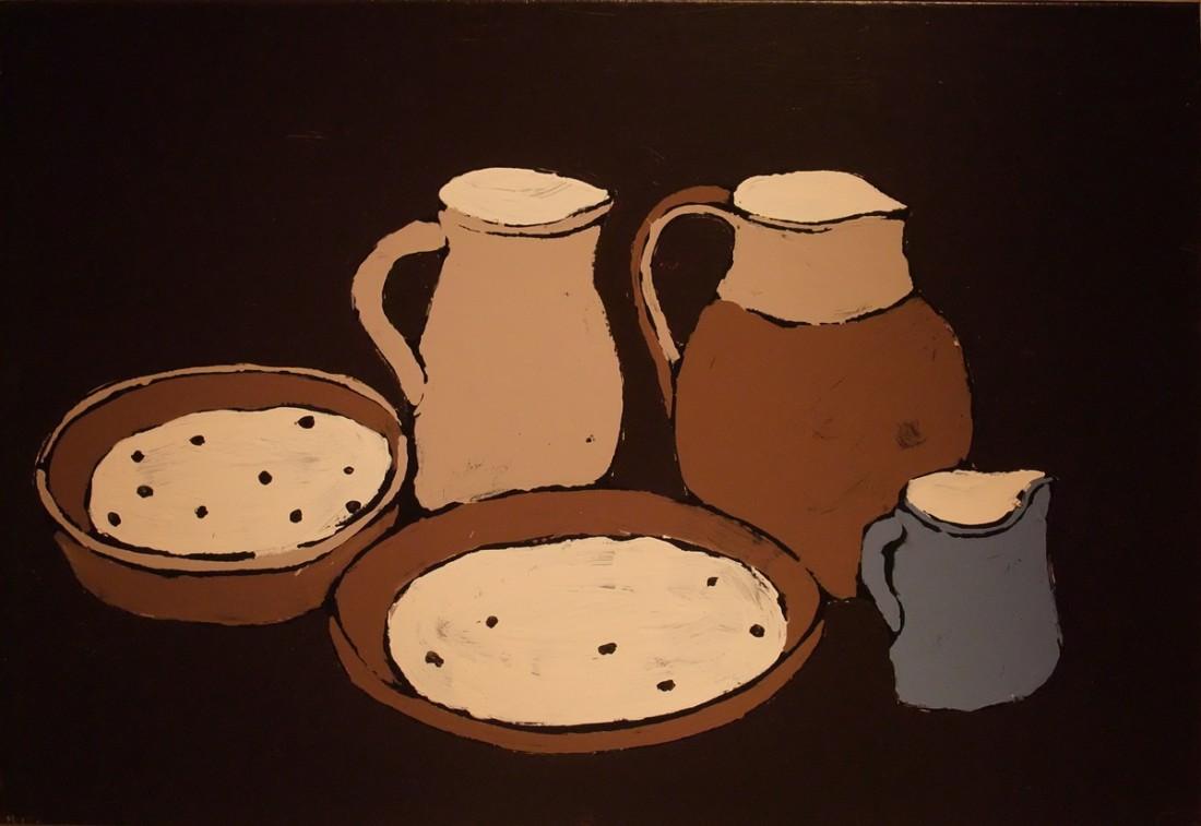 <p><strong>FONS HAAGMANS</strong></p><p><em>Milk and Porridge</em>, 2008</p><p>Household emulsion on canvas</p><p>70 x 100 cm</p><p>(27 1/2 x 39 3/8 in)</p><p>£7,500</p>