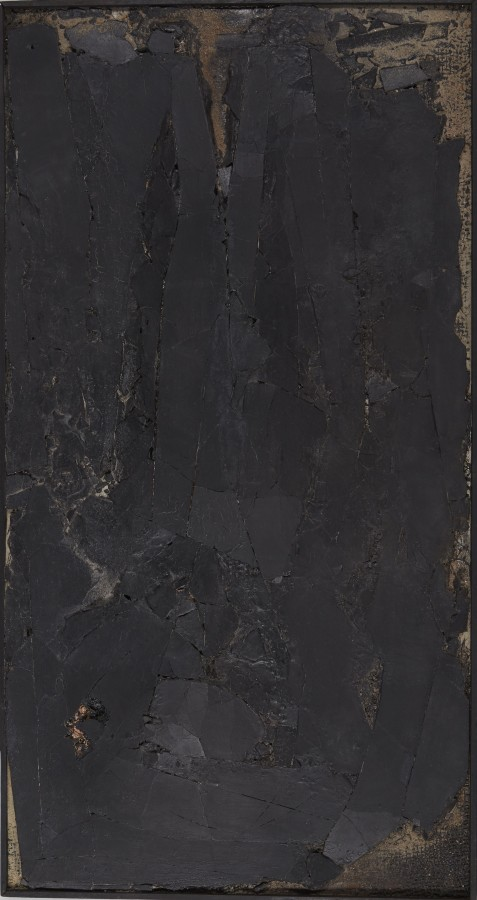 "<p><span class=""artist""><strong>ROBERT MALLARY</strong></span>, <span class=""title""><em>Untitled</em>, 1957-1958</span></p><div class=""medium"">Mixed media: Found materials, resin and pigment mixture on board</div><div class=""dimensions"">44 ½ x 23 ½ x 2 in<br />113 x 59.7 x 5 cm</div>"