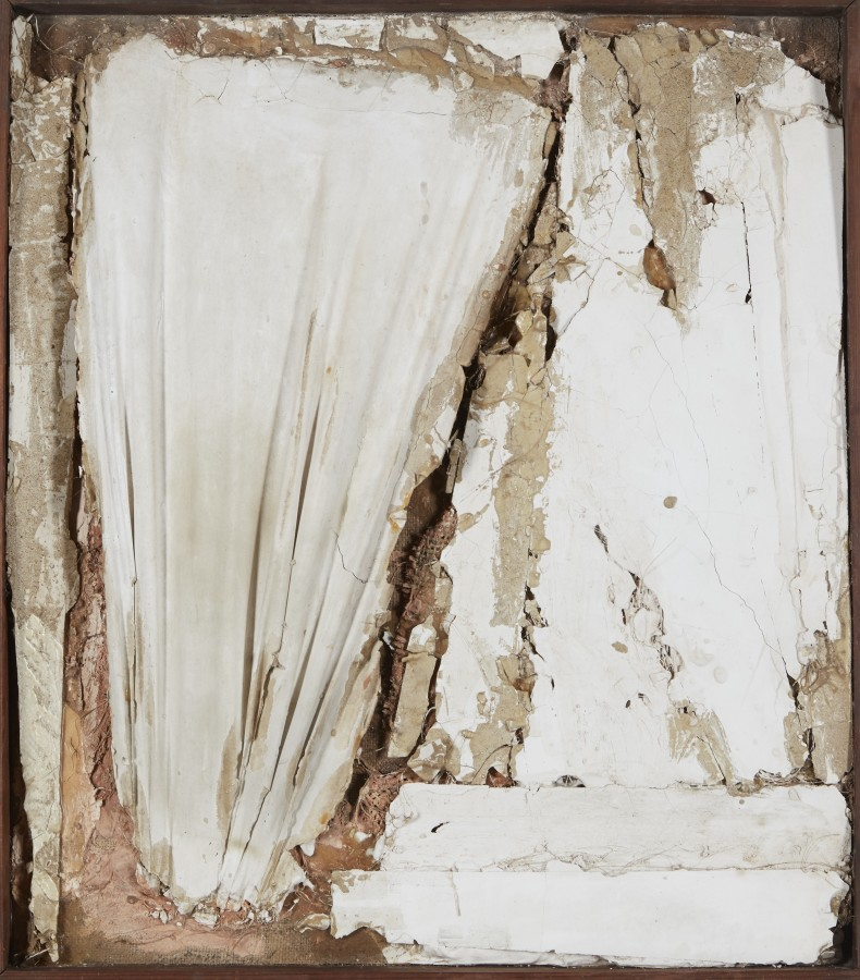 "<p><span class=""artist""><strong>ROBERT MALLARY</strong></span>, <span class=""title""><em>Untitled</em>, 1957-1958</span></p><div class=""medium"">Mixed media: Found materials bound with plaster with a wooden frame</div><div class=""dimensions"">29 ½ x 26 x 3 ½ in<br />75 x 66 x 9 cm</div>"