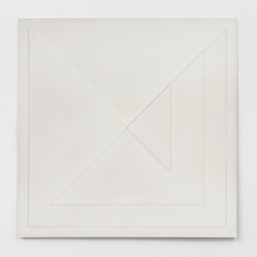 "<p><span class=""artist""><strong>AD DEKKERS</strong></span></p><p><span class=""title""><em>Vierkant opgebouwd uit driehoeken / Square made up of triangles</em>, 1966</span></p><div class=""medium"">Polyester, white paint</div><div class=""dimensions"">90 x 90 x 3 cm<br />35 ½ x 35 ½ x 1 ⅛ inches</div>"