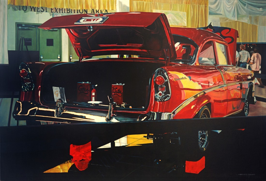 Harold Zabady American Classic - 1955 Chevy oil on linen 101.5 x 152.5 cm