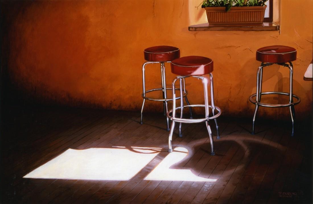 Tad Suzuki Café Santa Fe Acrylic on canvas 61 x 91.5 cm