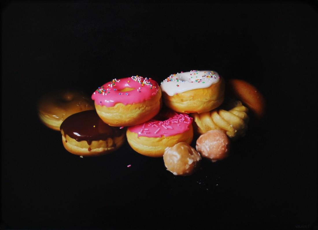 Jason Walker Donut Pile Oil on panel 38 x 51 cm