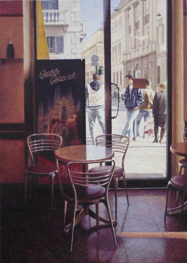 Mike Briscoe Early Morning Milan 2 oil on linen 35.5 x 25.5 cm