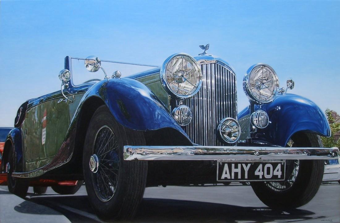 Carlos Pulido Blue Oil on linen on board 66 x 100 cm