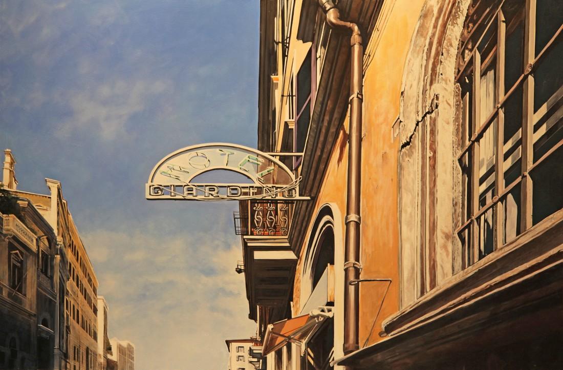 Peter Rocklin Hotel Giardino, Rome Oil on board 60 x 90 cm
