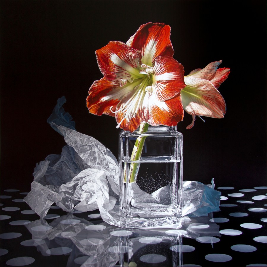 Francois Chartier Minerva oil on canvas 152 x 152 cm