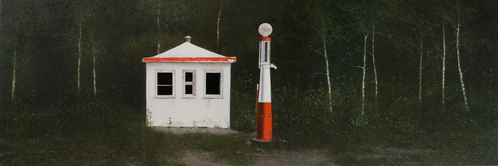 Paul De Roy Retired oil on canvas 40 x 120 cm