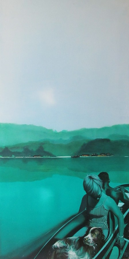 Mike Francis The Last Ferry Acrylic on canvas 122 x 61 cm