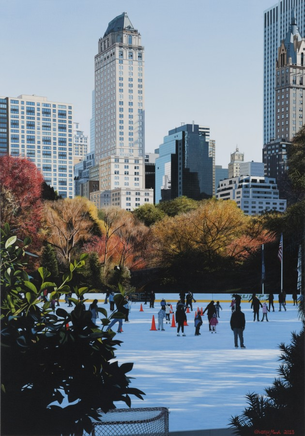 Christian Marsh The Magic of the Ice oil on canvas 100 x 70 cm