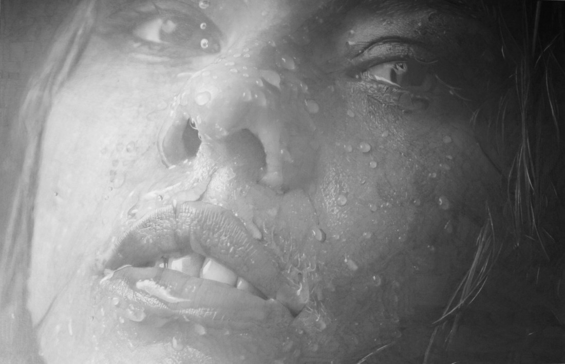 Paul Cadden Thoughts of Rain pencil on paper 46 x 70 cm