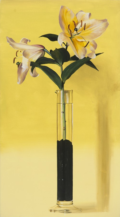"Ben Schonzeit ""Yellow Lily Graduate"" 91 x 51 cm Acrylic on canvas"