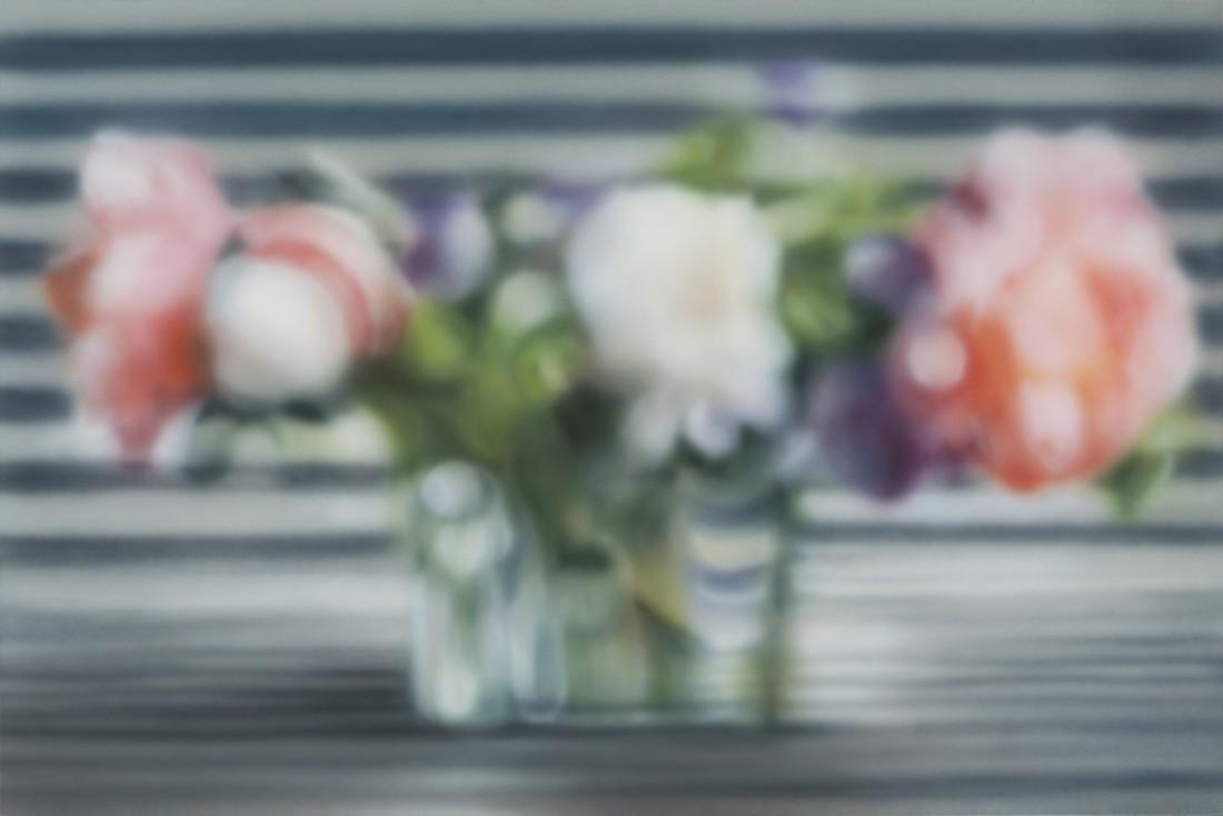 """Ben Schonzeit  """"Aalto Stripe Blur""""  61 x 91.5 cm  Acrylic on polyester"""