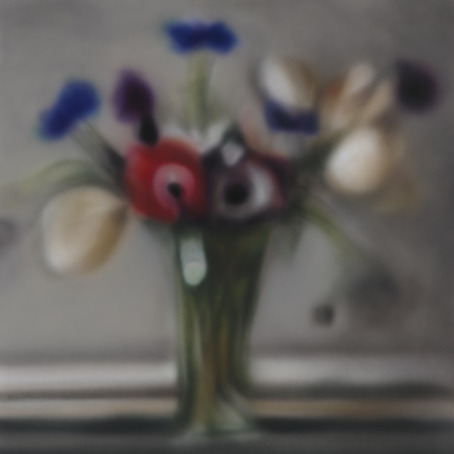 "Ben Schonzeit ""Anemones Blurry"" 99 x 99 cm Acrylic on polyester"