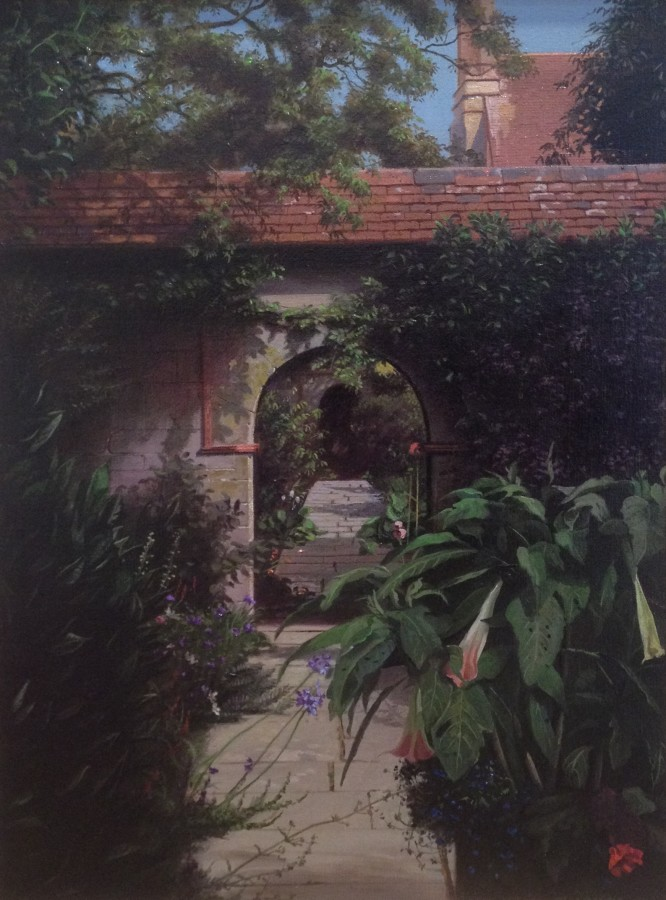 "Carl Laubin ""Little Thakeham Archway"" 41 x 31 cm Oil on canvas"