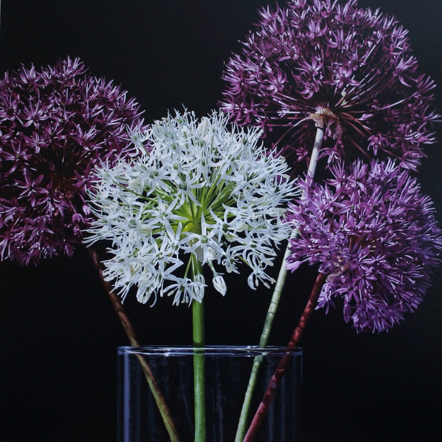 "Glen Semple ""A Little Bit of Allium"" 120 x 120 cm Acrylic on canvas"