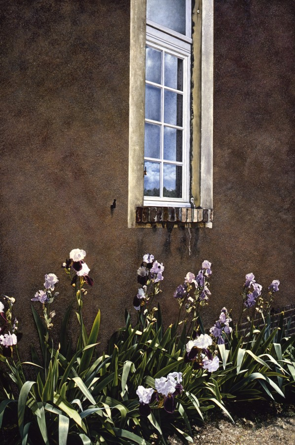 "Barry Oretsky ""Iris in the Lane"" 107 x 71 cm Acrylic on canvas"