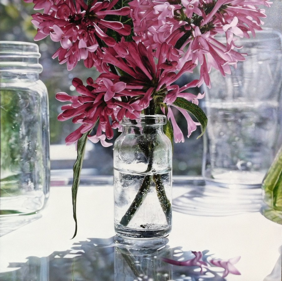 "Glen Semple ""Spring Blossoms"" 120 x 90 cm Acrylic on canvas"