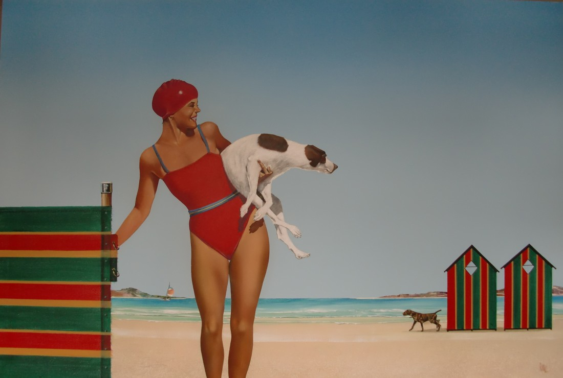 "Mike Francis  ""Spot the Dog II""  ACrylic on canvas  122 x 183 cm"