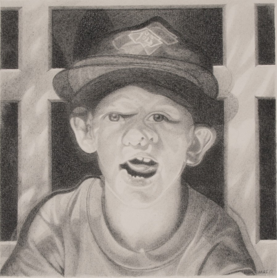 "Philip Harris ""A.H"" Pencil on paper 20 x 20 cm"