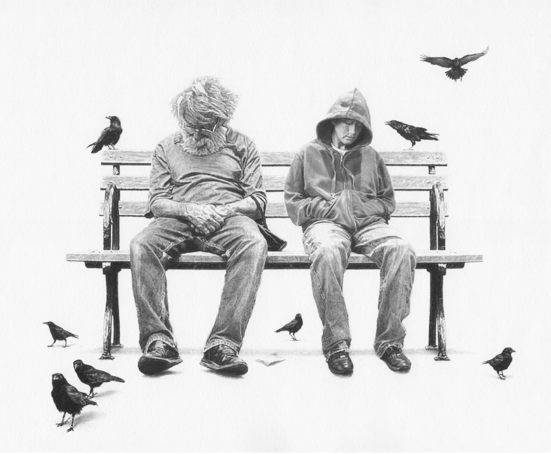 "Stefan Nandancee ""Friendship"" Pencil on paper 20 x 25 cm"