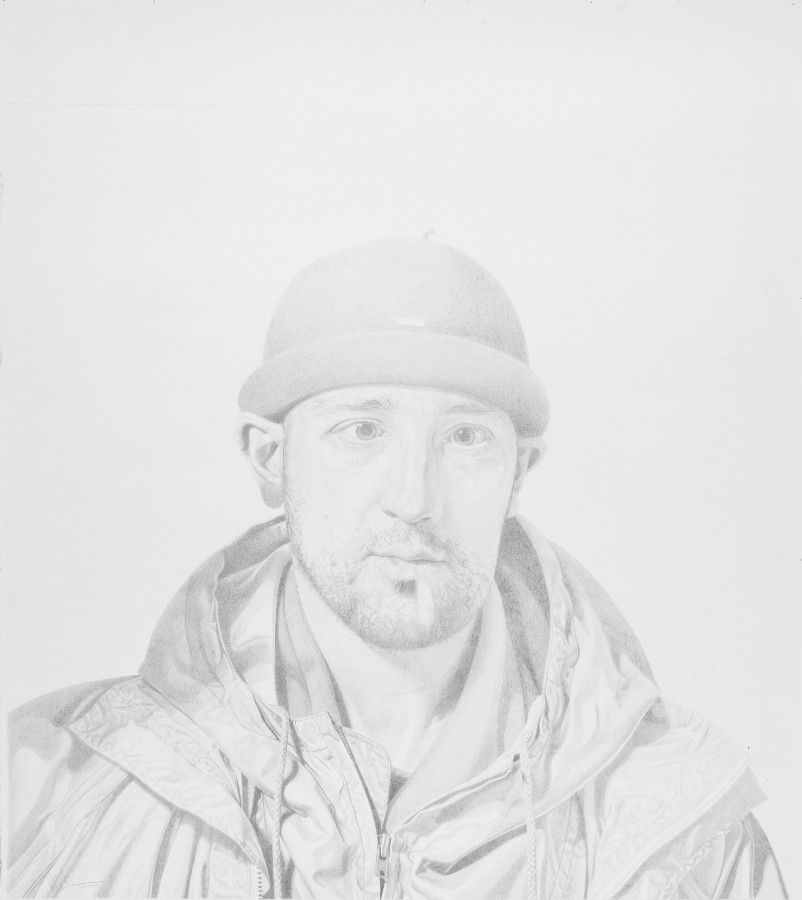 "Philip Harris ""S.P (Study)"" Pencil on paper 110 x 110 cm"