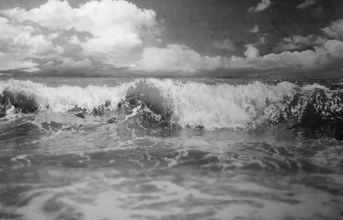 "Paul Cadden ""Seascapes"" Pencil on paper 48 x 71 cm"