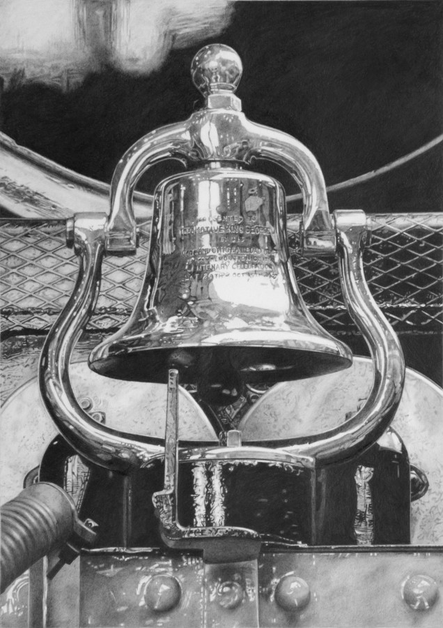 "Roger Watt ""The King's Bell"" Graphite on paper 30 x 21 cm"