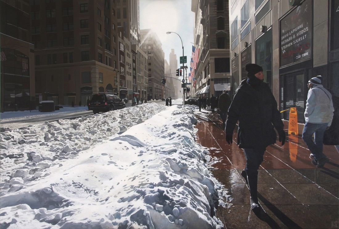 """Fifth Ave/ NYC"" Acrylic on canvas 89 x 130 cm"