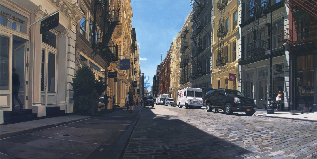 """Greene St/ Soho II"" Acrylic on canvas 70 x 140 cm"