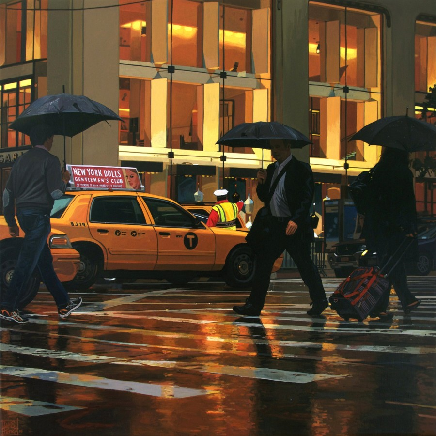 """New York Dolls/ Fifth Avenue"" Acrylic on canvas 40 x 40 cm"