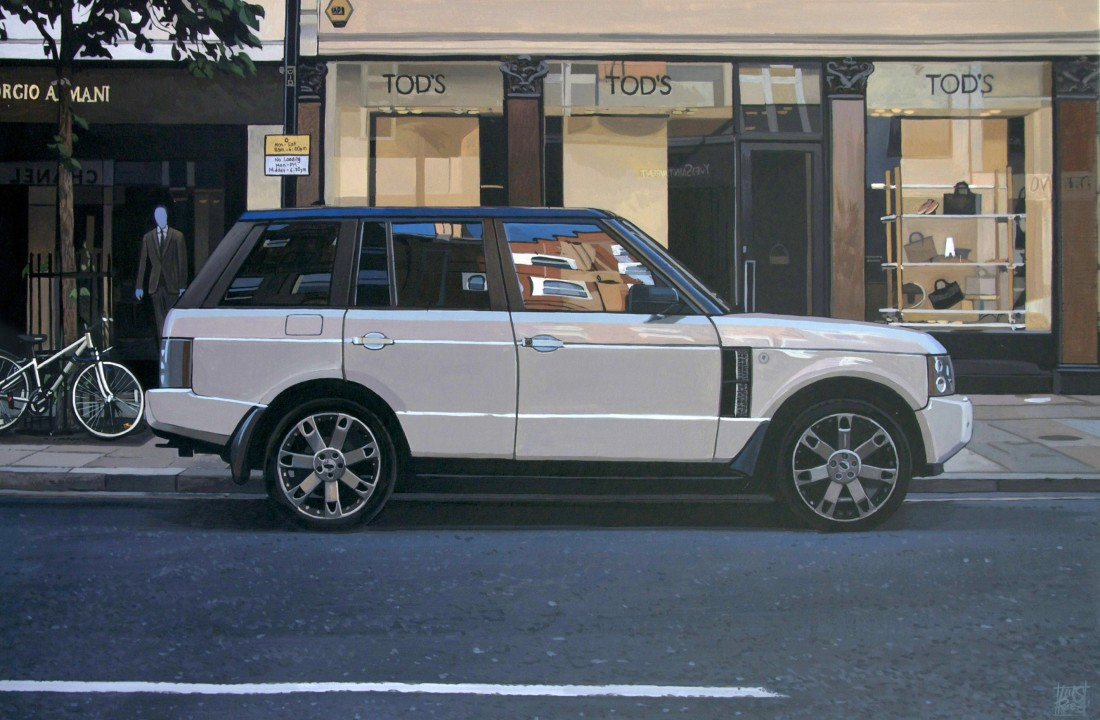 <p>&#34;Sloane Avenue/ Range Rover&#34;</p><p>Acrylic on canvas</p><p>30 x 46 cm</p>