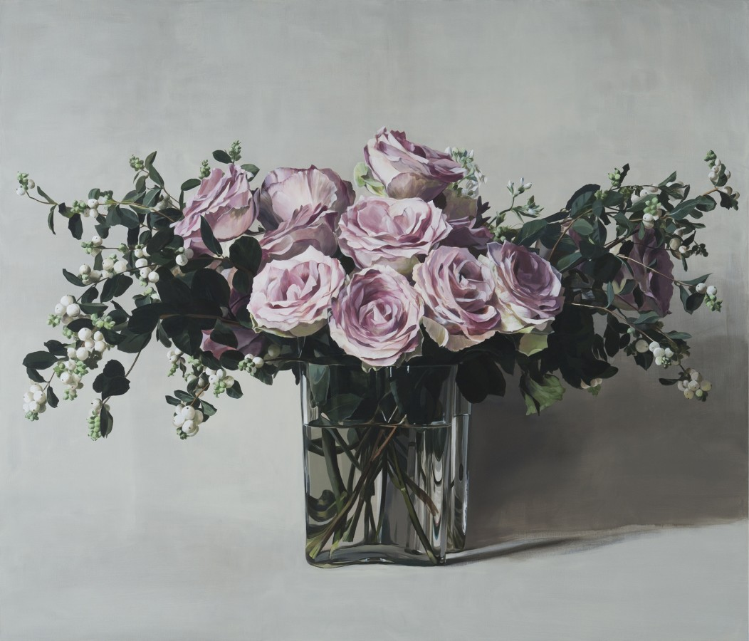 "Ben Schonzeit ""Dusky Rose"" Acrylic on linen 183 x 213.5 cm"