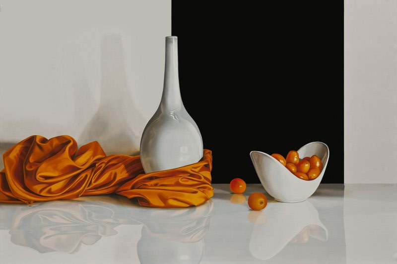 "Elena Molinari ""Orange Corner"" Oil on canvas 97 x 146 cm"