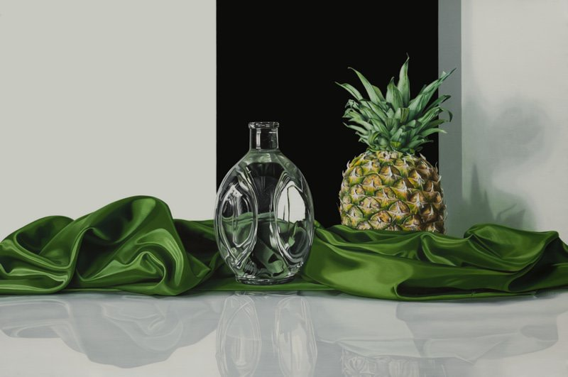 "Elena Molinari ""Pineapple"" Oil on canvas 97 x 146 cm"