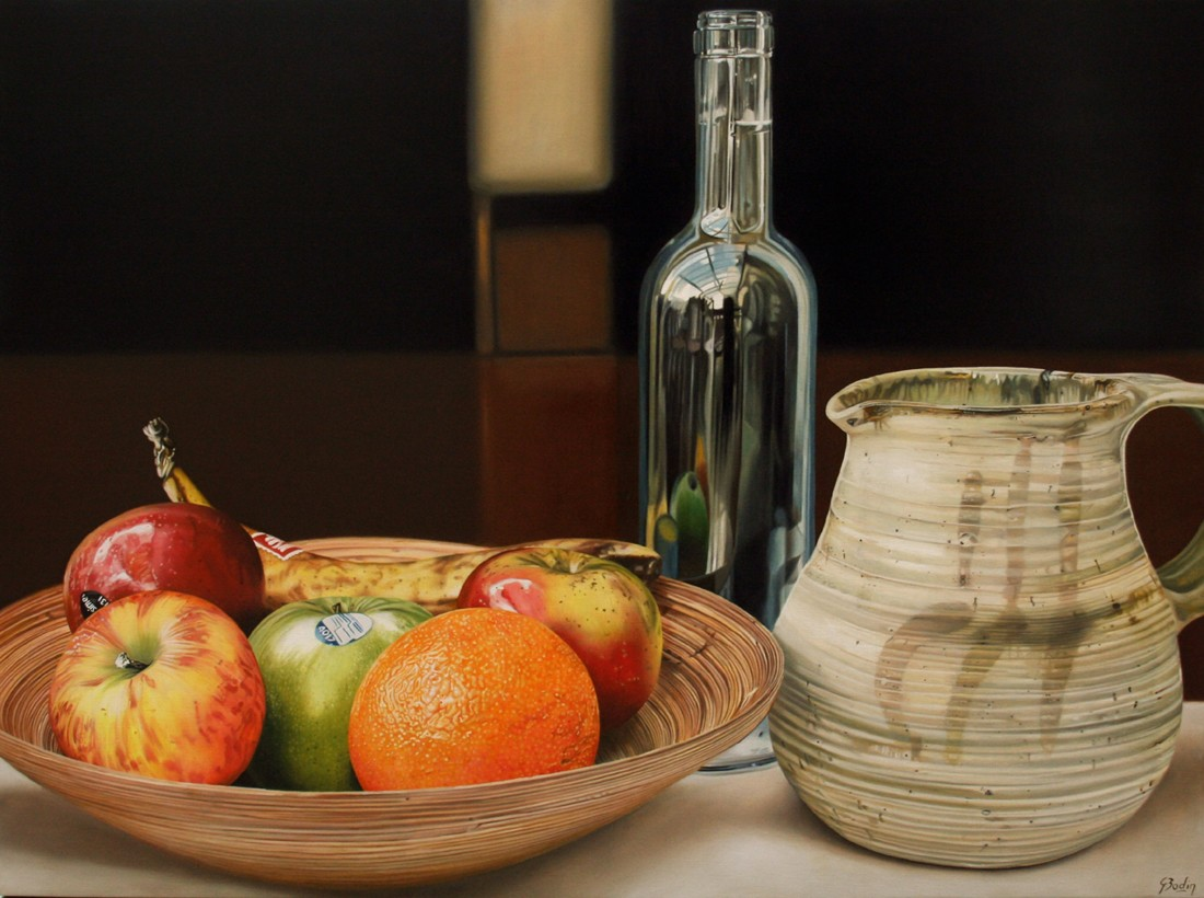 "Jaques Bodin ""Fruits XXII"" Oil on canvas 160 x 110 cm"