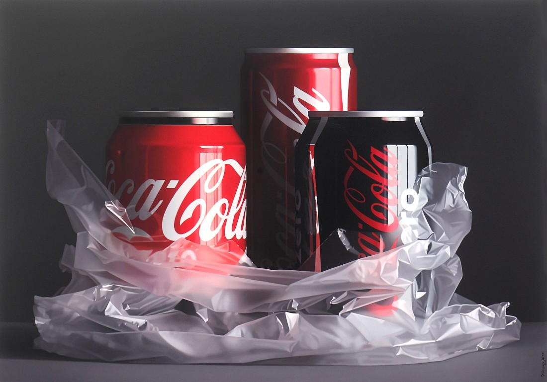 "Pedro Campos ""Coke Trilogy II"" Oil on canvas 114 x 162 cm"