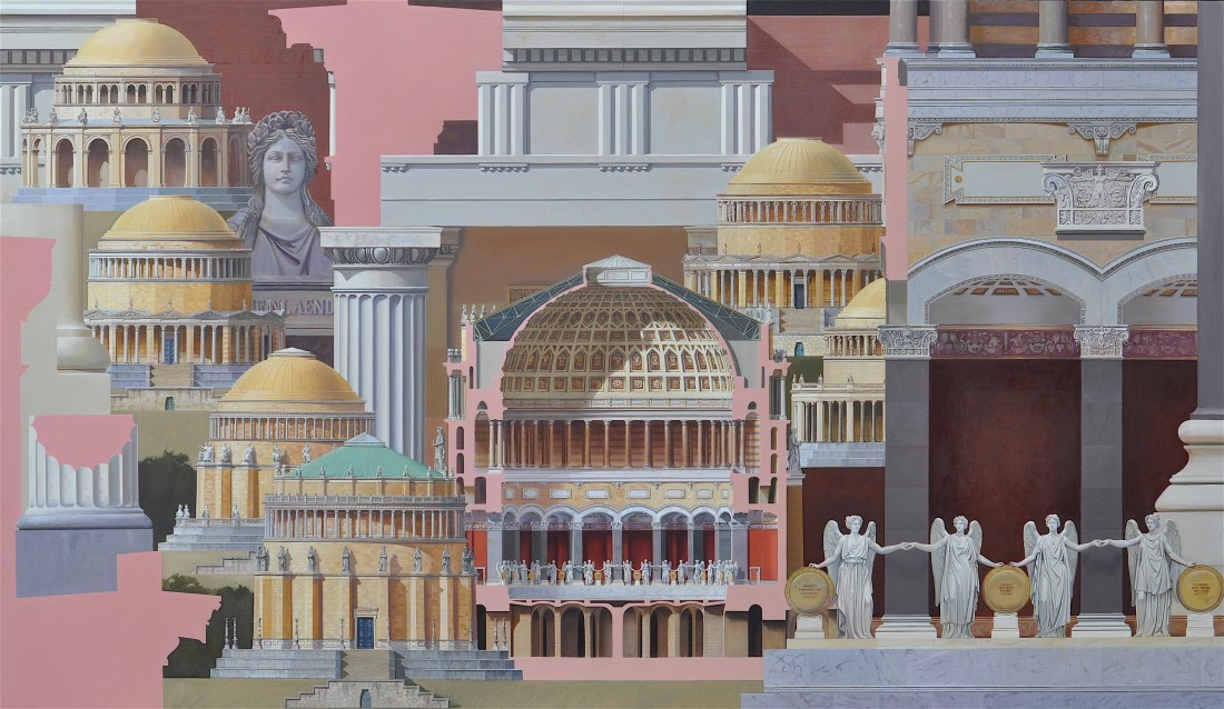 Befreiungshalle, 110 x 190 cm, oil on canvas, 2016
