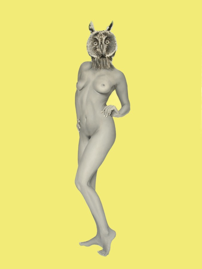 Francisco Rangel Owl Woman Oil on board 60 x 40 cm