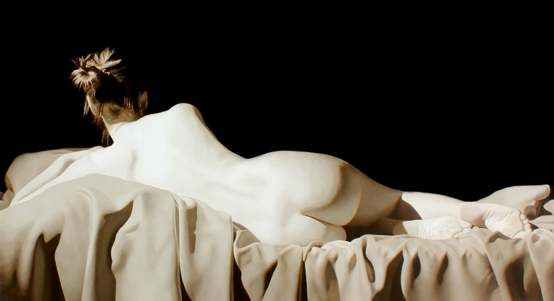 Toby Boothman Reclined Nude oil on canvas 95 x 170 cm
