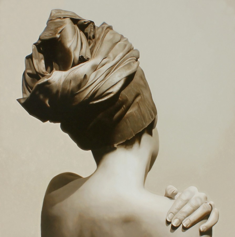 Toby Boothman Tilted Turban oil on canvas 70 x 70 cm